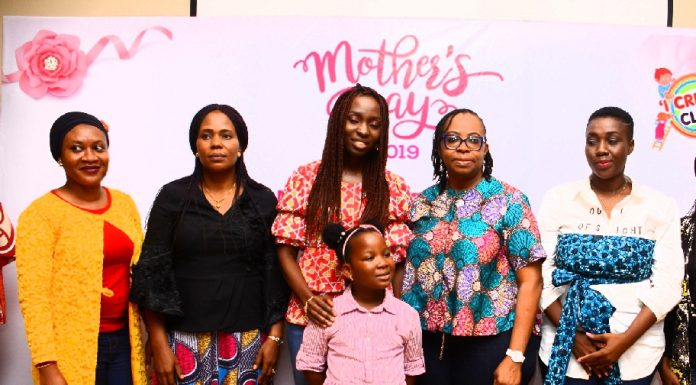 L-R, Empathyspace Consulting Service's CEO/Consultant Phychatrist, Dr. Kafayah Ogunsola, Vitafoam Nigeria Plc's Group Products Manager, Mrs Rachel Ogolo, I create Club, Founder/CEO, Mrs Eniola Afolayan, Child Author, 'The Lion Comes To Town', Miss Bolaoluwa Asaolu , Corona School Trust Council's CEO, Mrs Adeyoyin Adesina, Design for Love, Founder, Mrs Oluwunmi Funbi-Olufeko at Lunch of mothers in commemoration of mother's day in Lagos at weekend.