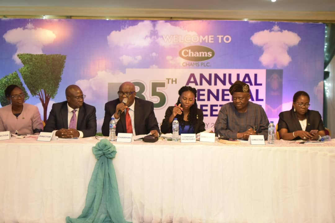 SHAREHOLDERS ENDORSE CHAMS' PERFORMANCE