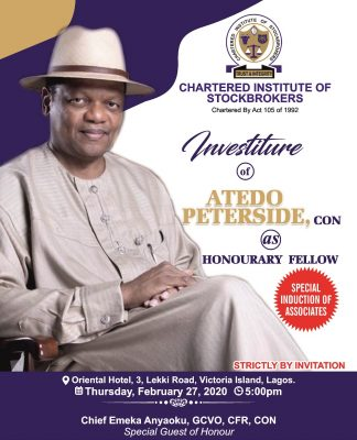 CIS Announces Peterside's Investiture, Induction Of New Members
