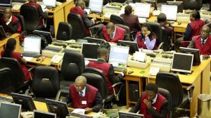 Trading floor of the Nigerian Stock Exchange (NSE)