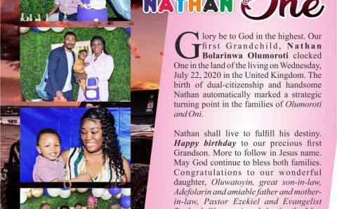 Nathan Olumoroti Celebrates One Year Birthday In Grand Style