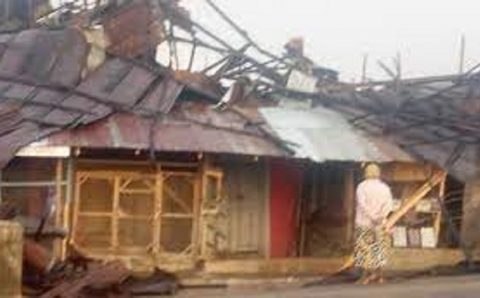 Rainstorm destroys property worth millions of Naira in Osun